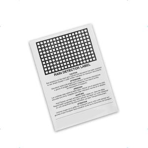 etichetta indicatrice contatto con pioggia o altro liquido