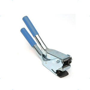 cesoia tagliereggia con doppia sicurezza per reggia in acciaio inox fino a 35 mm
