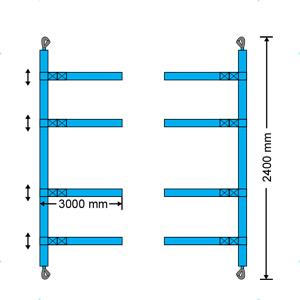 container lashing cinghie pre-confezionate per container N3